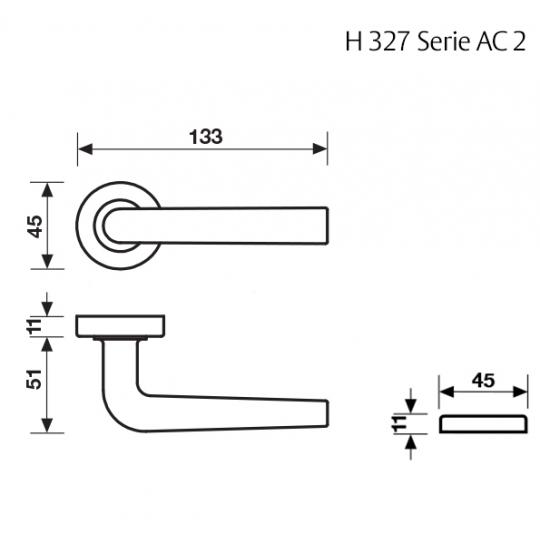 Klamka H 327 Fusital złoty
