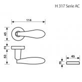 Klamka H 317 Fusital chrom błyszczący