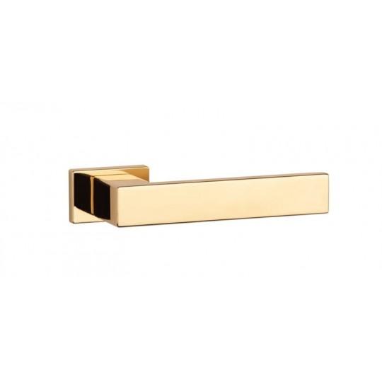 Klamka Aprile Pina rozeta prostokątna RT SLIM 7 mm LG złoto