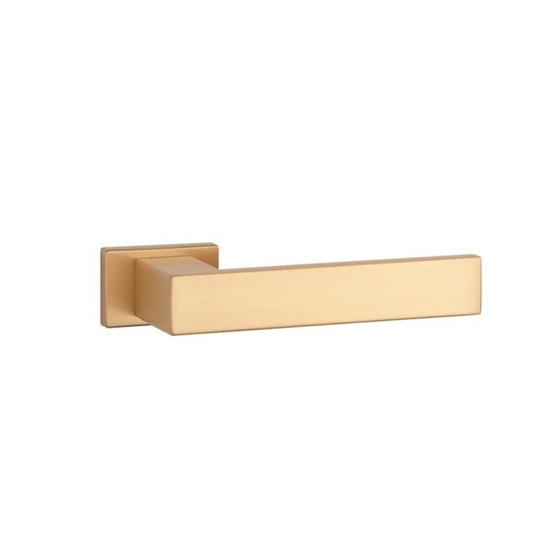 Klamka Aprile Pina rozeta prostokątna RT SLIM 7 mm KG złoto mat