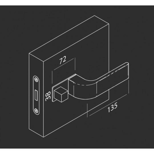 Klamka  NANO MAGNETIC NM612 Comit czarny matowy + zamek magnetyczny