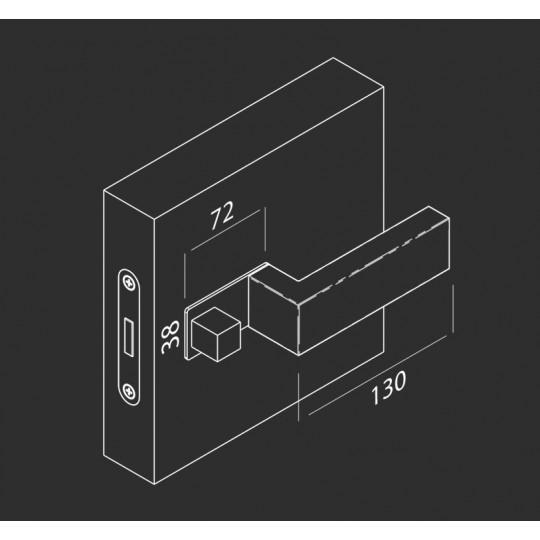 Klamka  NANO MAGNETIC NM599 Comit biały matowy + zamek magnetyczny