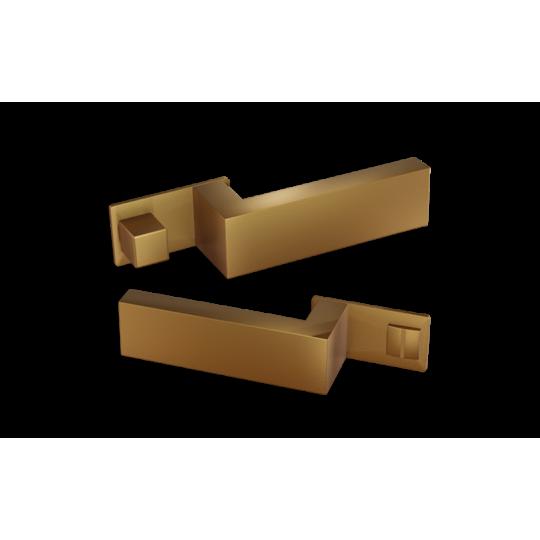 Klamka  NANO MAGNETIC NM599 Comit złoty satyna + zamek magnetyczny