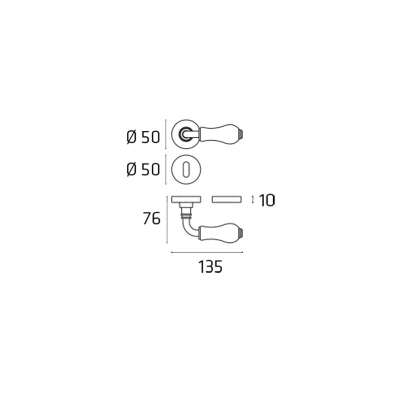 Klamka CLASSIC brąz antyczny