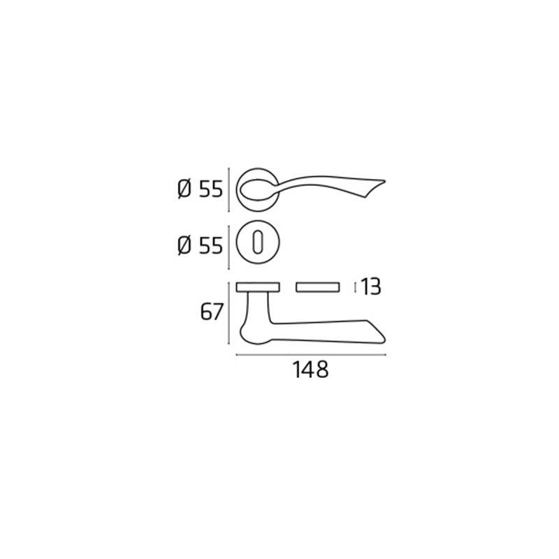 Klamka FLY chrom polerowany
