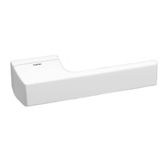 Klamka Tupai 3099RT/152 szyld prostokątny biały