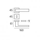 Klamka NAVY Line chrom polerowany
