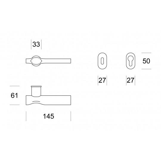 Klamka  TRACE C3 grafitowy szczotkowany