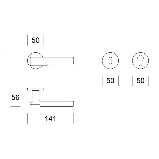 Klamka ROBOT R6 czarny matowy