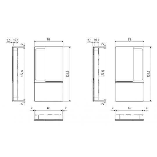 Klamka drzwiowa WAVE czarna + Zamek magnetyczny TOUCH