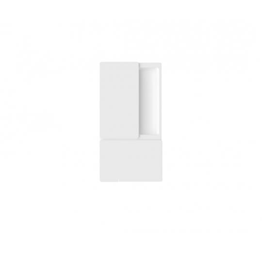 Uchwyt do drzwi przesuwnych WAVE bez otworu biały