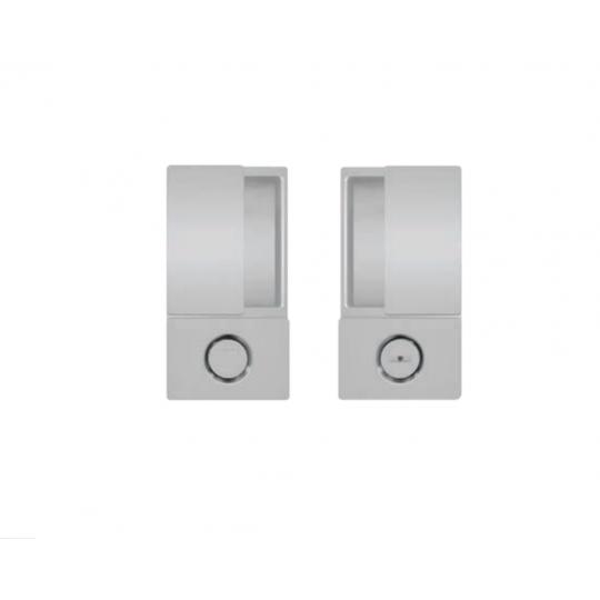 Klamka drzwiowa WAVE WC Anodowane srebro + zamek magnetyczny Polaris Wave