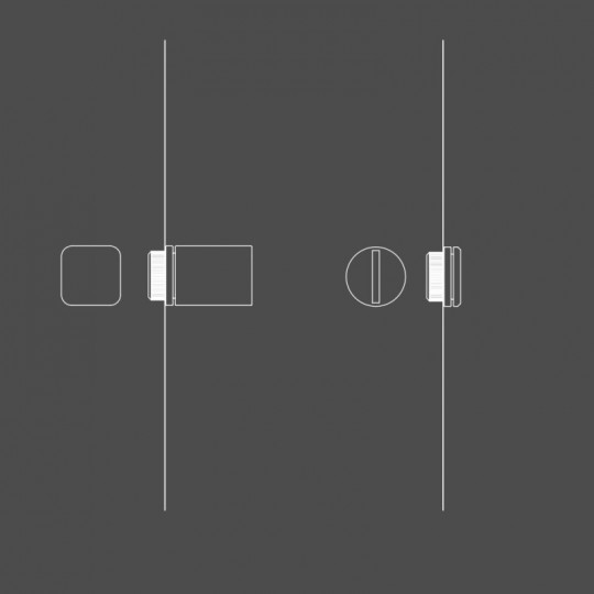 Kwadratowe pokrętło WC z zamkiem do uchwytów JOO, KONZERVA