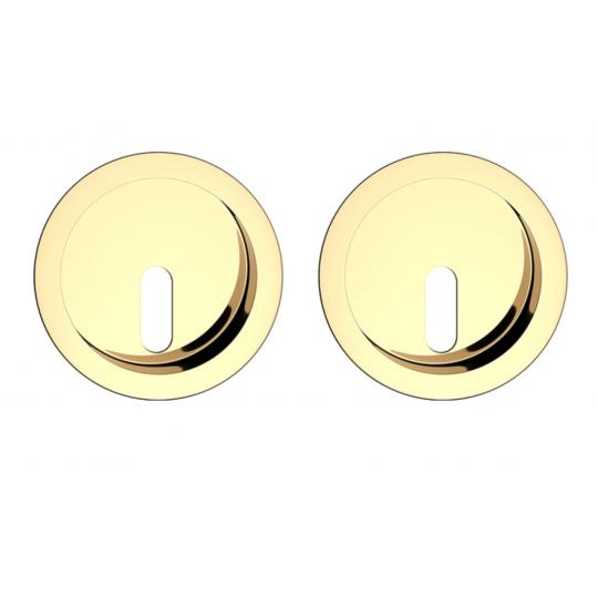 Zestaw okrągły do drzwi przesuwnych- mosiądz