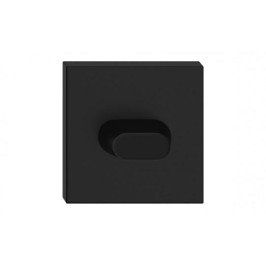 Szyld dolny kwadratowy WC czarny antybakteryjny